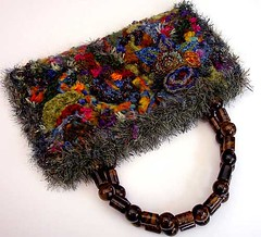purse with antique bead handles