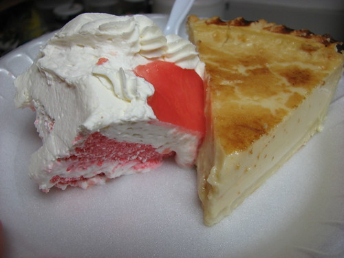 Guava cake and custard pie from Dee-Lite Bakery by newyork808, on Flickr