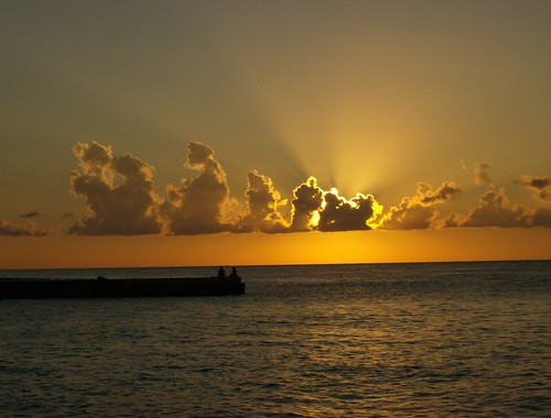 Cozumel golden sunset