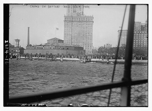 Crowd on Battery Wall, N.Y.  (LOC)