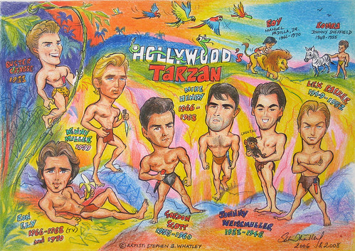 Hollywood Tarzan- cartoon tribute (2008) by Stephen B Whatley