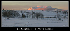 Le Mézenc au soleil levant