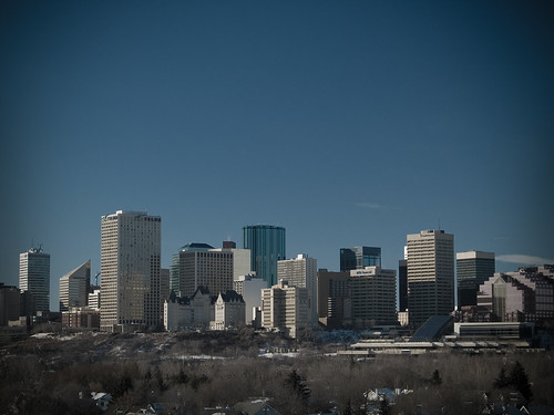 Downtown Edmonton.