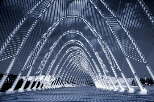 Greece - Athens - Calatrava Walkway - blue