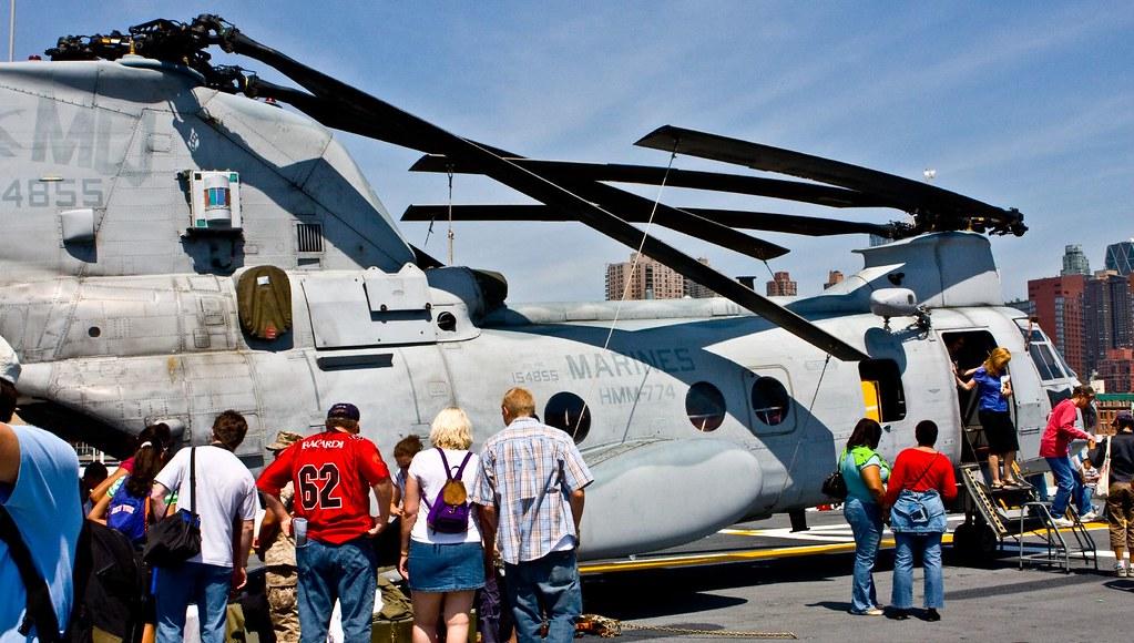 CH-46 Rotors Folded