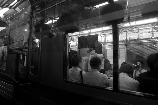 満員電車?