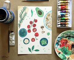 Gouache Experiments: Week 2 | Italian Food & Botanical Illustration