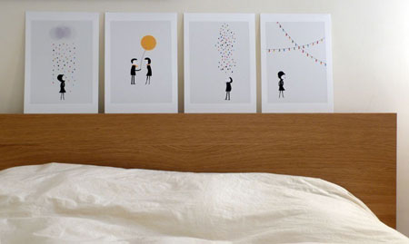 Cosas m nimas ilustraciones de lujo decoraci n hogar - Laminas para decorar paredes ...