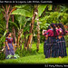 Girls posing in San Marcos de la Laguna, Lake Atitlan, Guatemala