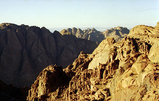 Coming down Mt Sinai at daybreak
