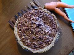 pie, breakfast, baking, baked goods, pecan pie, food, dish, cuisine,