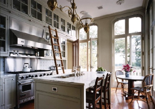 Small Kitchens Gray Floors