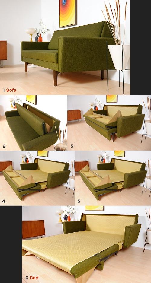 1968 danish sleeper sofa the mid century modernist for Danish modern sofa bed