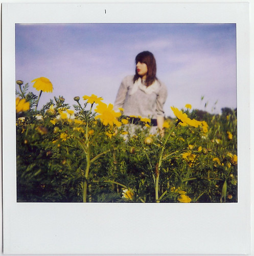 save polaroid, me in spring