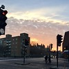 Sunrise in Whitechapel, London. Mid-Jan 2017
