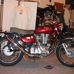 Royal Enfield Bullet Motorcycle in Red