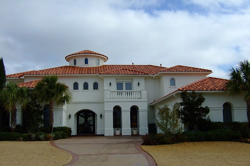 White Stucco House With Spanish Tile Roof