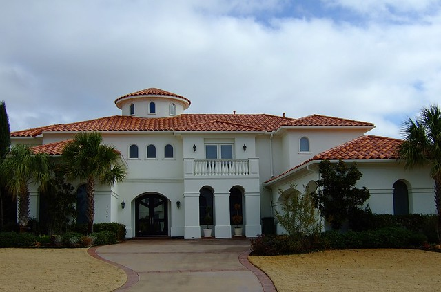 White Stucco House With Spanish Tile Roof Flickr Photo