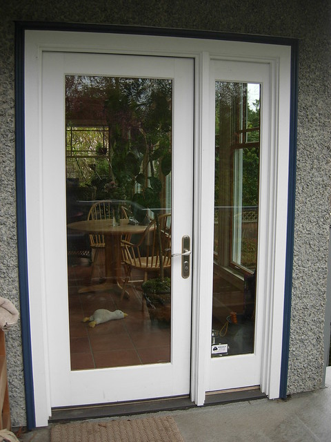 Architect series single french door with sidelight for Single french door exterior