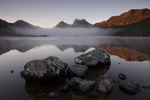 First Dawn at Cradle Mountain