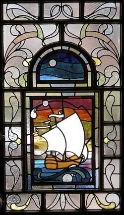 stained glass galleon glasgow scotland rdw glass