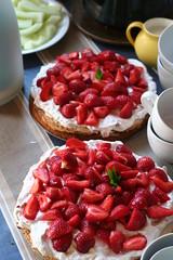 meal(0.0), plant(0.0), belgian waffle(0.0), produce(0.0), torte(0.0), cherry pie(0.0), raspberry(0.0), breakfast(1.0), pavlova(1.0), strawberry pie(1.0), strawberry(1.0), frutti di bosco(1.0), fruit(1.0), food(1.0), dish(1.0), dessert(1.0),