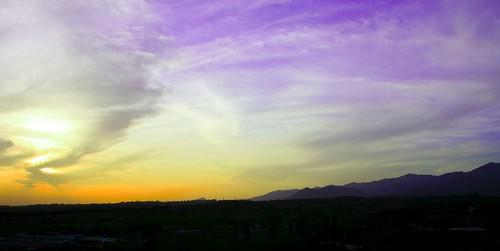 sunset sky landscape