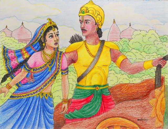 Arjuna--the mesmerizing character