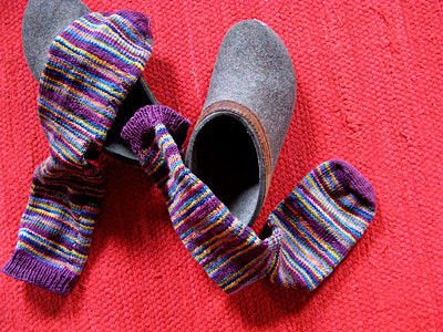 Koigu Striped Socks by Mary Joy Gumayagay