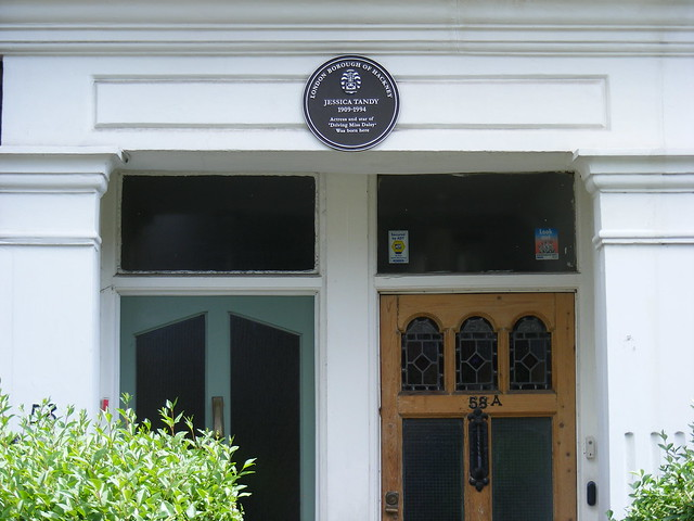 Jessica Tandy brown plaque - Jessica Tandy 1909-1994 Actress and star of Driving Miss Daisy was born here