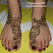 Nadia Feet at Mehnaz Bridal Mehndi night
