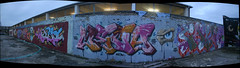 panorama of some graffiti