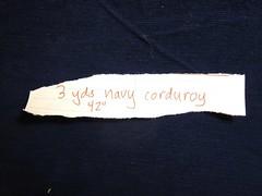 Navy corduroy
