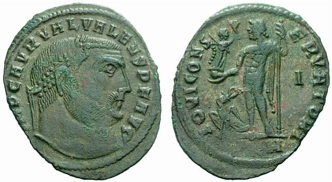 RI369 An Excessively Rare and Exceptional Roman Bronze Follis of Valerius Valens (316-317 C.E.), Among the Finest Extant Coins of this Ruler