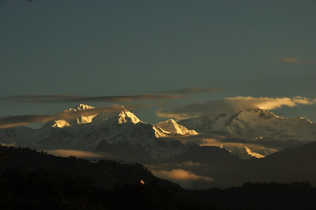Kanchenjunga from Tadong - Rinchenpong during Sunrise