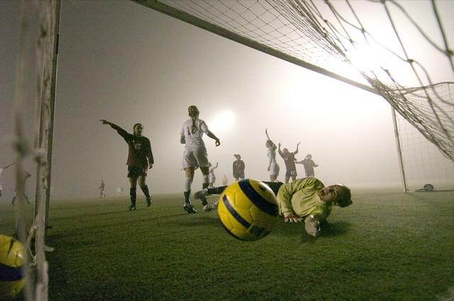 Foggy soccer