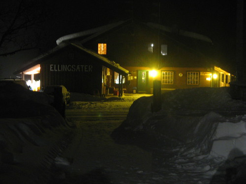 winter house norway norge nightimages haus hus valdres oppland ellingsaeter