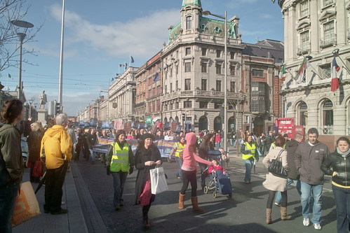 "PROTEST IN O""CONNELL STREET by infomatique"