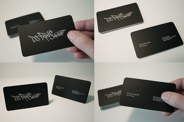 Card a gallery on flickr dj fred savage business cards colourmoves