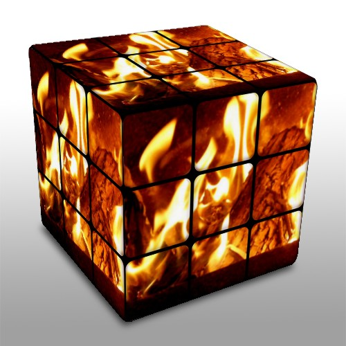 Fire Cube Flickr Photo Sharing