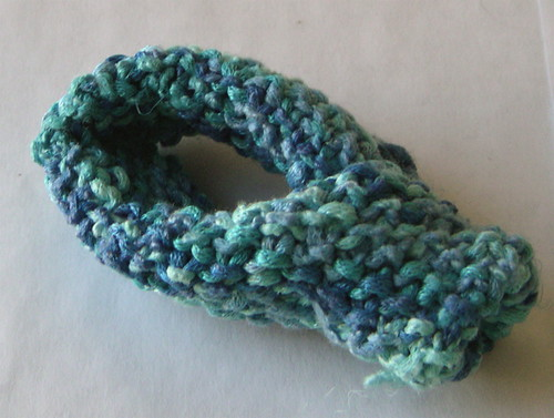 small teal Klein bottle