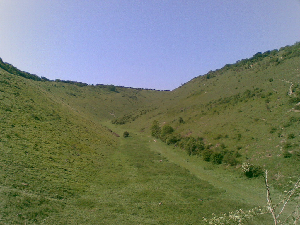 "Devils Dyke Just north of Brighton, the steep sided ""dry"" valley of Devils Dyke."