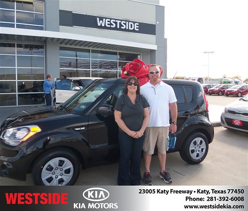 #HappyAnniversary to Elaine Loux on your 2013 #Kia #Soul from Guzman Gilbert and everyone at Westside Kia! by Westside KIA