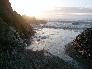 Sunset at Glass Beach outside of Fort Bragg, CA  (glassbeach40)