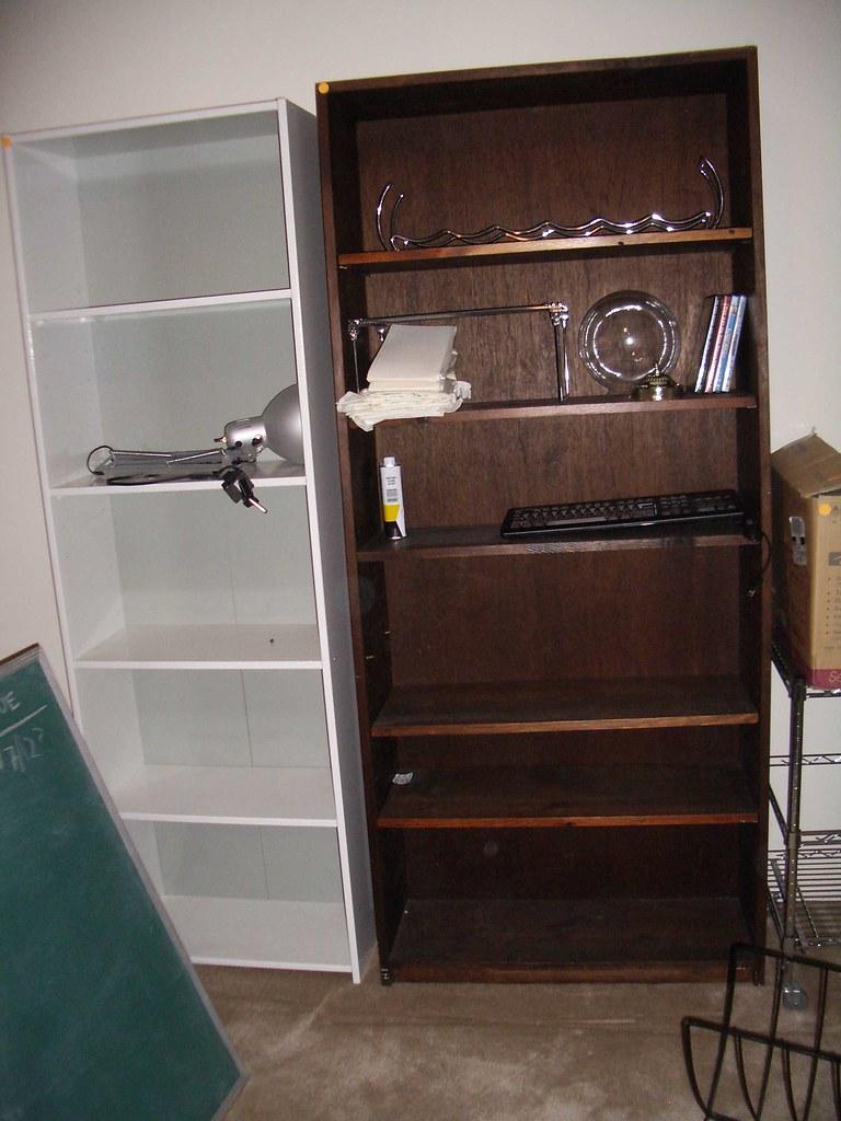1 Sturdy Wooden Bookshelf Bookcase 35 White Ikea Bi