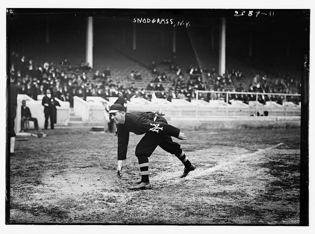 [Fred Snodgrass, New York NL (baseball), at the 1911 World Series] (LOC)