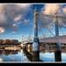 Albert Bridge at sunset by Simon Vardy