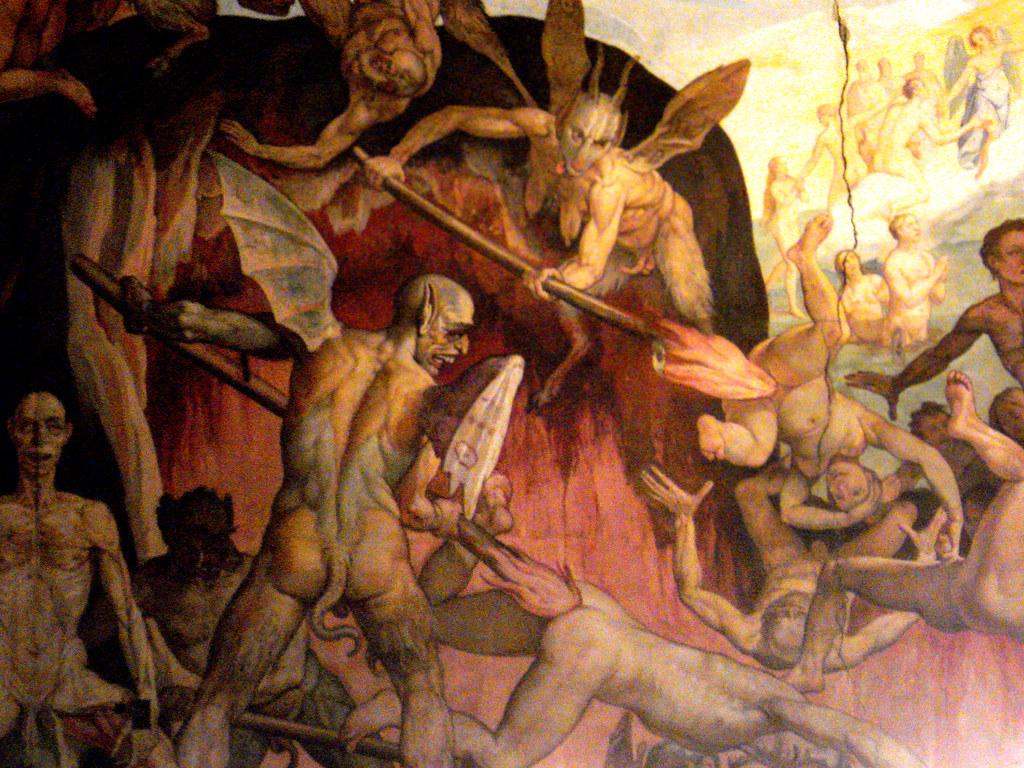 Detail of Last Judgement by Giorgio Vasari and Federico Zu ...