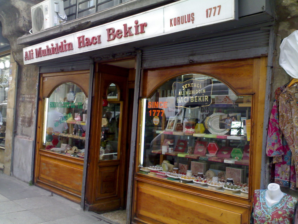"Day 15-Istanbul: Original shop that created ""Turkish delight"" (lokum) sweets in 1777! Might be under new management by now."