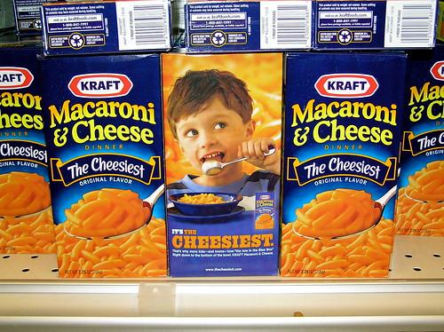 my son Patrick on The Kraft Mac & Cheese box